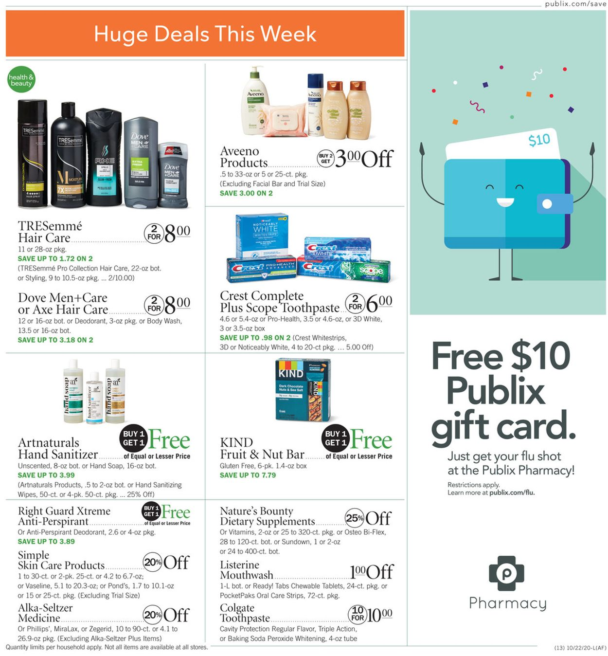 Publix Current weekly ad 10/22 - 10/28/2020 [13 ...