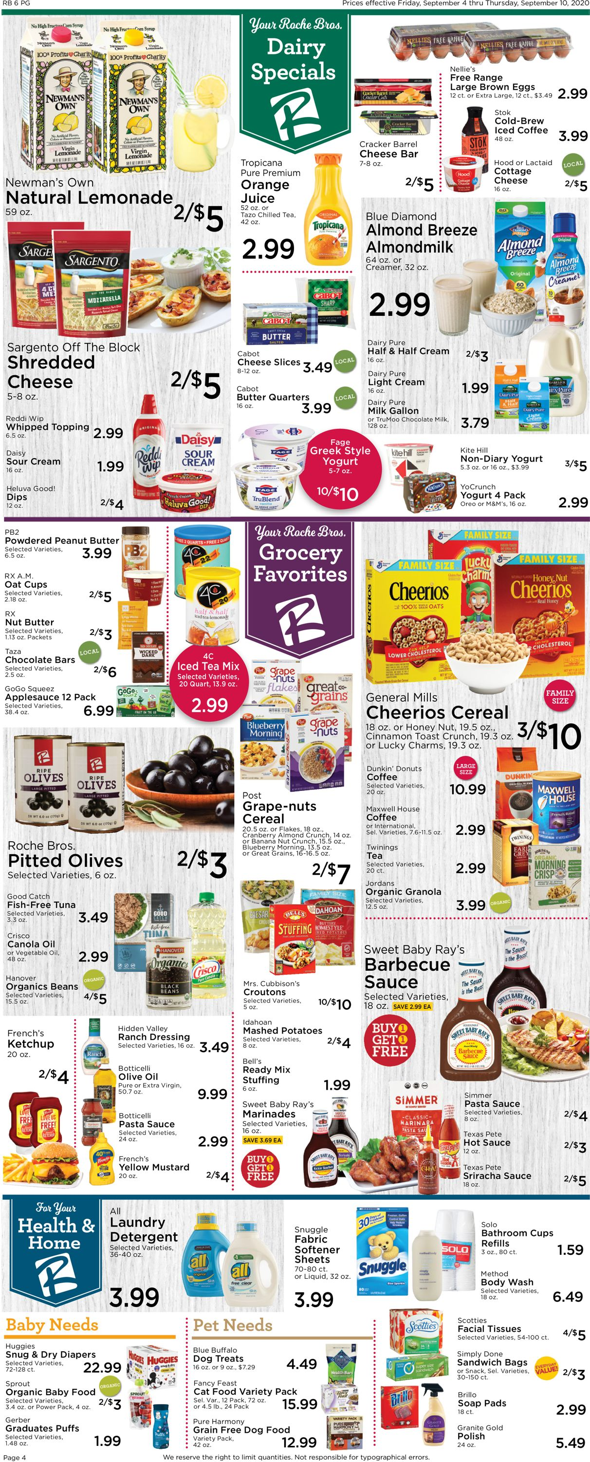Catalogue Roche Bros. Supermarkets from 09/04/2020