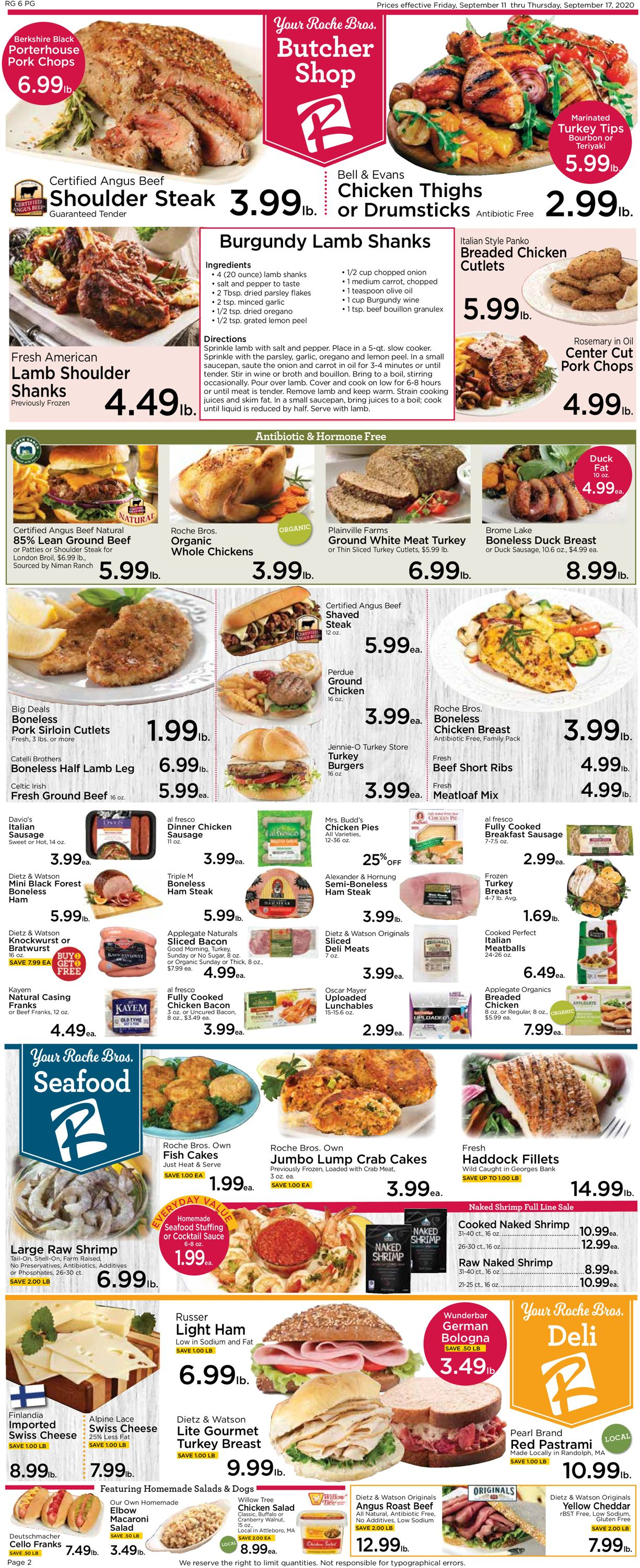 Catalogue Roche Bros. Supermarkets from 09/11/2020