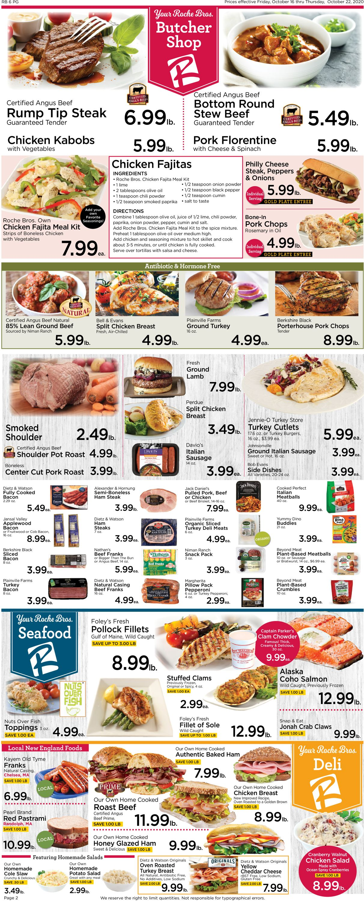 Catalogue Roche Bros. Supermarkets from 10/16/2020