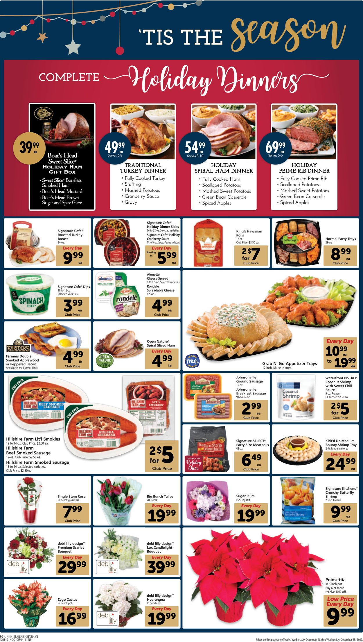 Safeway Complete Holiday Dinners 2020 Christmas Safeway   Holiday Ad 2019 Current weekly ad 12/18   12/25/2019 [4