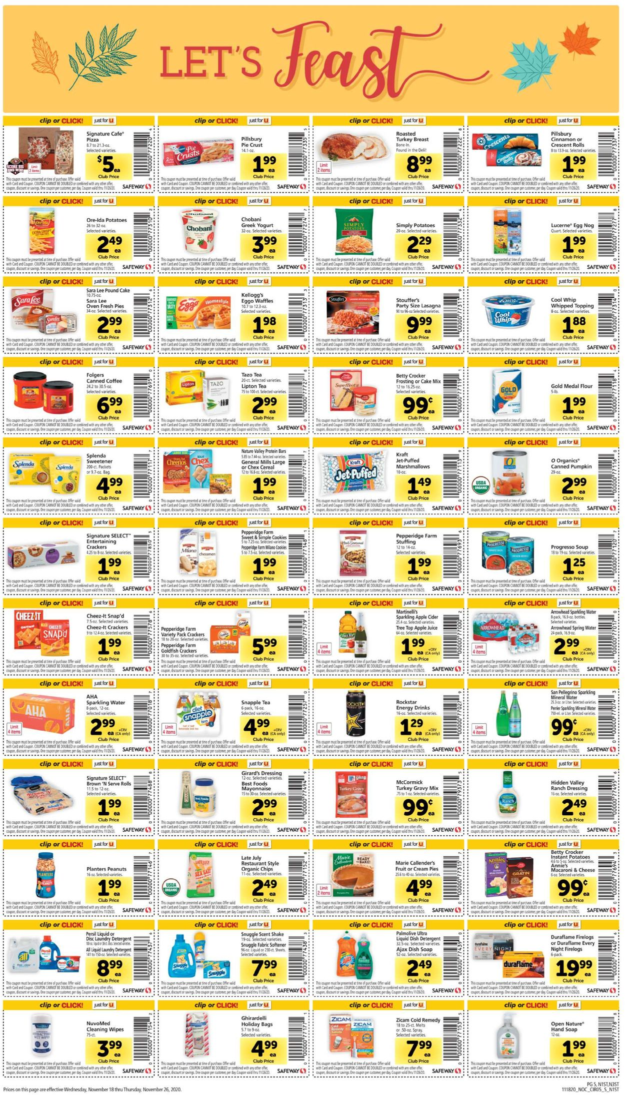Safeway Current Weekly Ad 11 18 11 26 2020 5 Frequent Ads Com