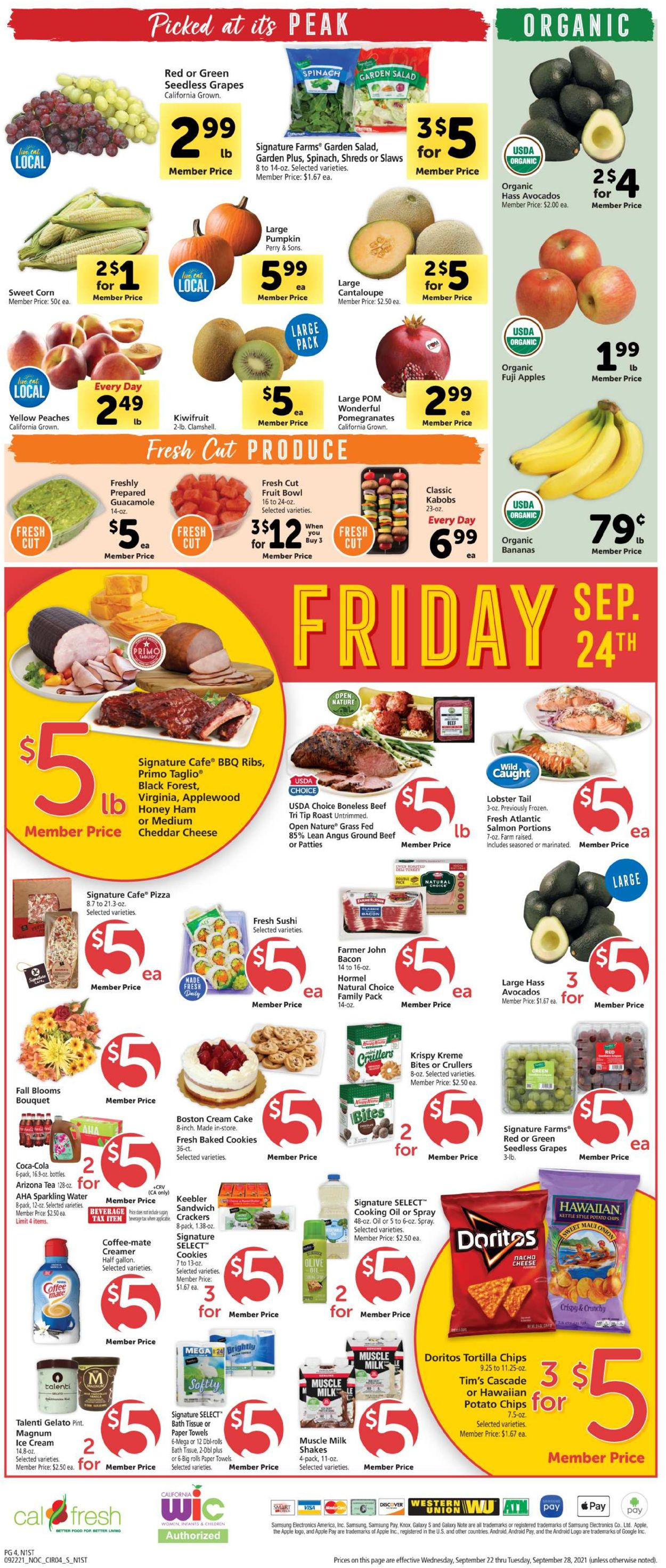 Catalogue Safeway from 09/22/2021