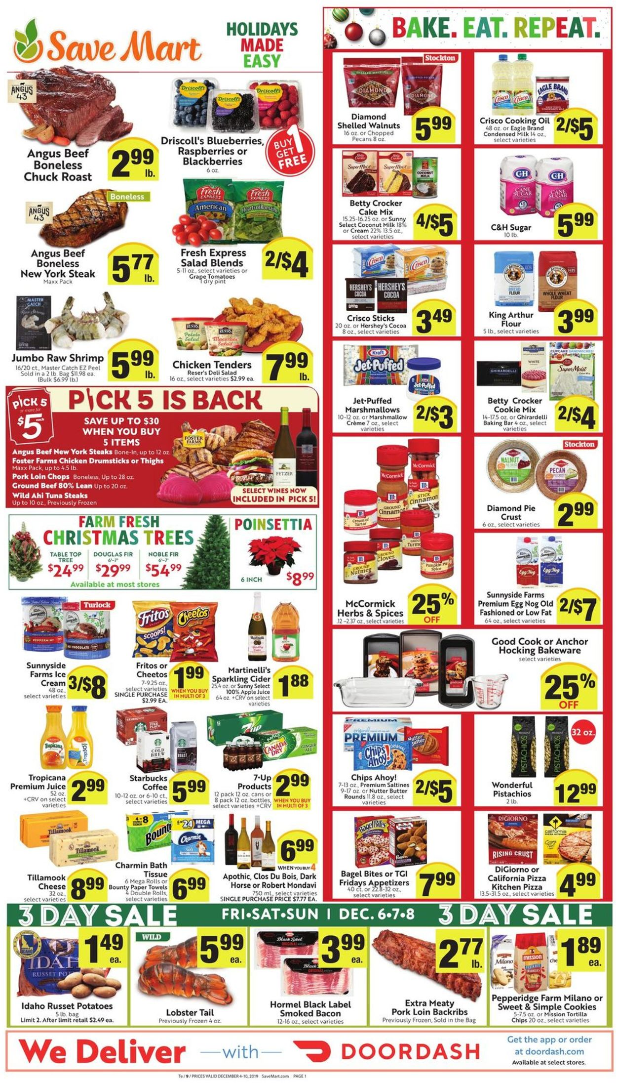 Catalogue Save Mart - Holidays Ad 2019 from 12/04/2019