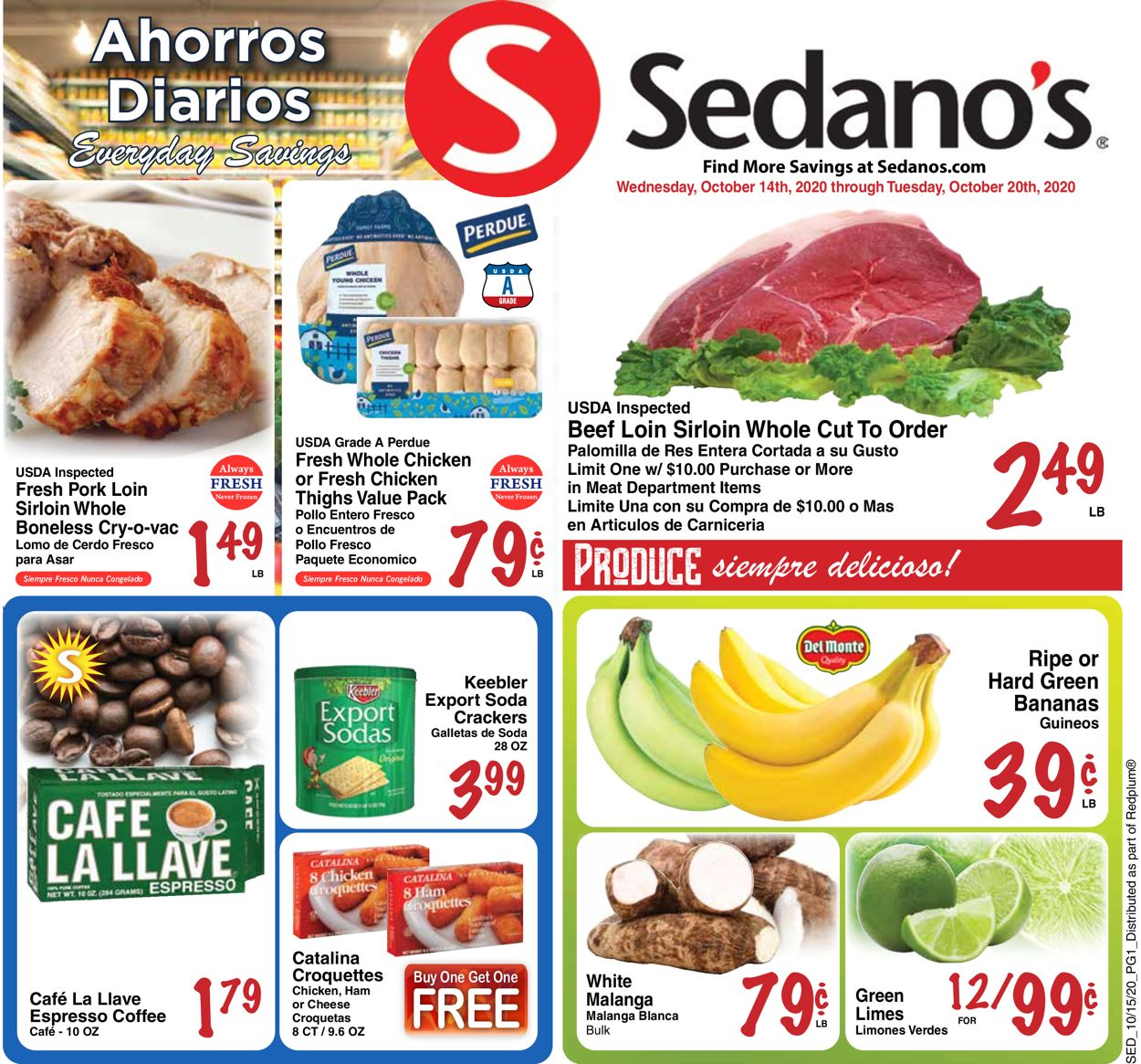 Catalogue Sedano's from 10/14/2020