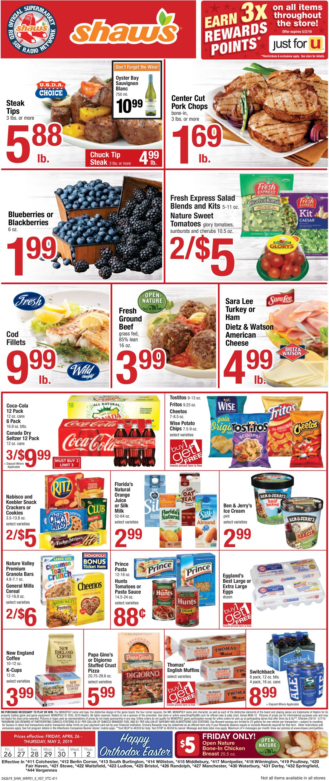 Shaw's Current weekly ad 04/26 - 05/02/2019 - frequent-ads com
