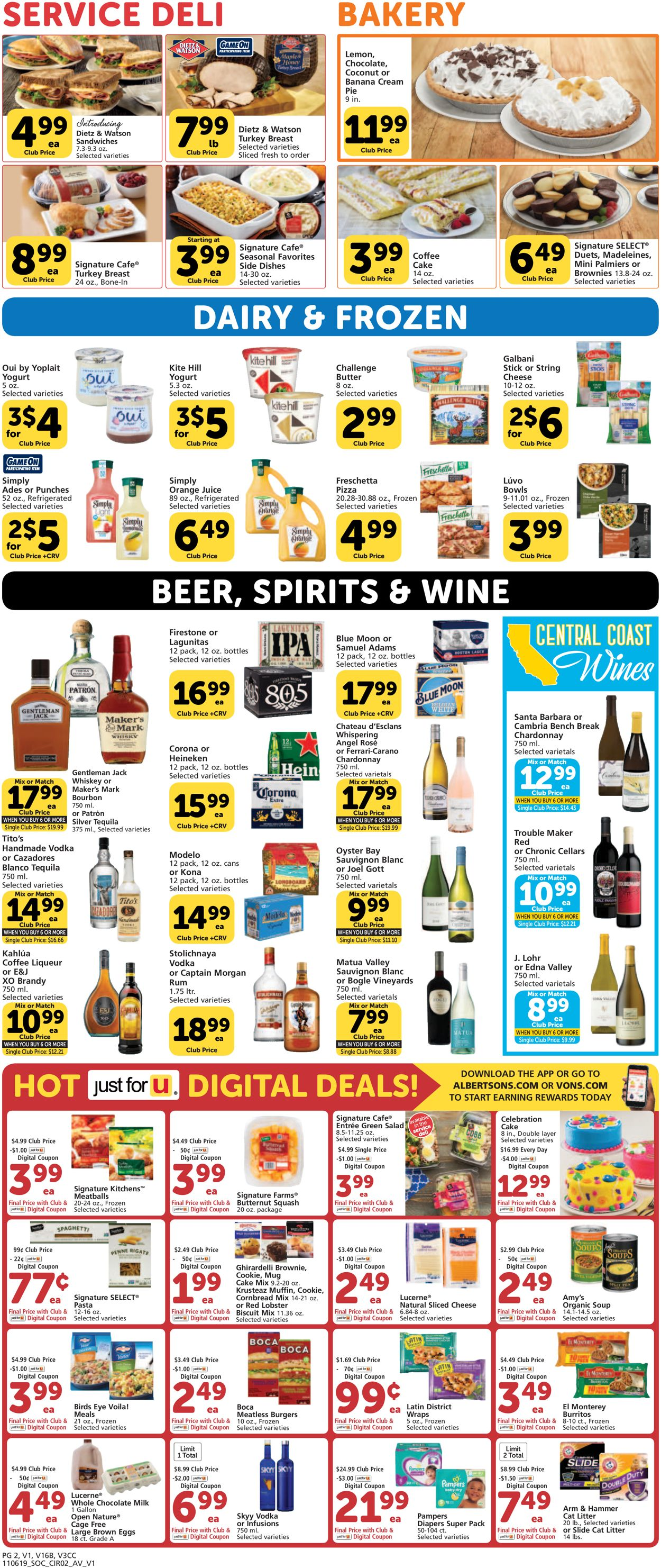 Vons Current Weekly Ad 11 06 11 11 2019 5 Frequent Ads Com