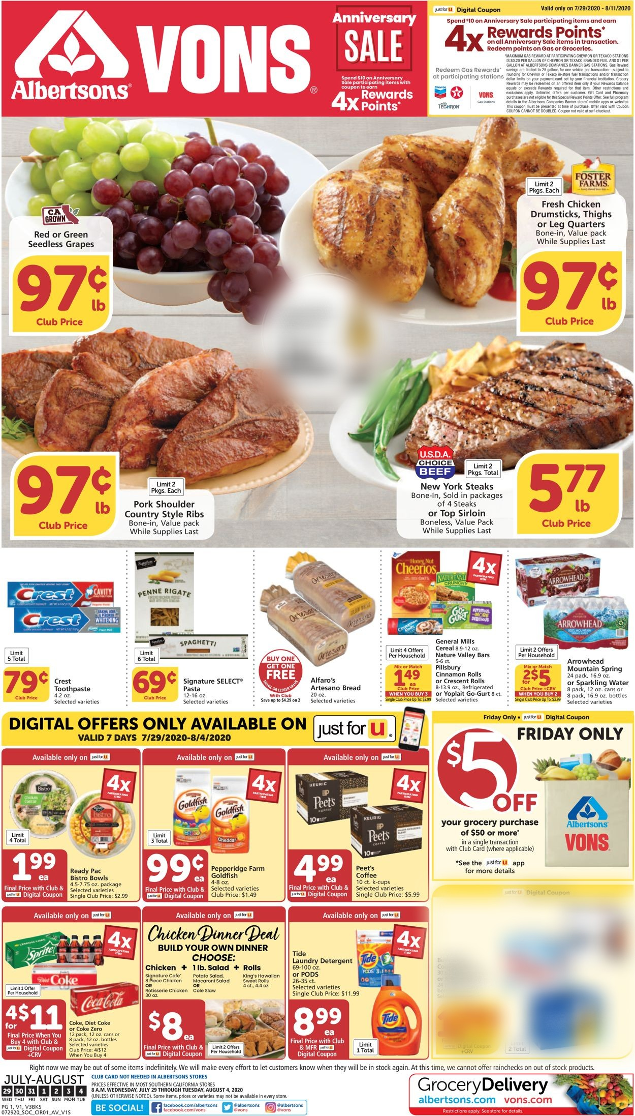 Vons Christmas Dinner 2020 Vons Current weekly ad 07/29   08/04/2020   frequent ads.com