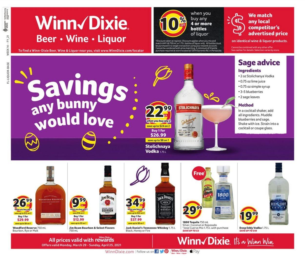 Catalogue Winn Dixie from 03/29/2021