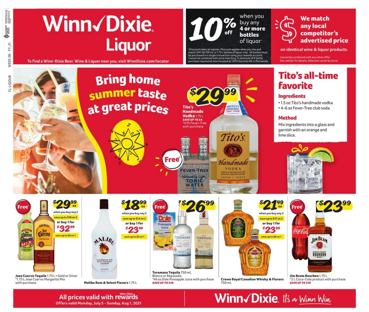 Catalogue Winn Dixie from 07/05/2021