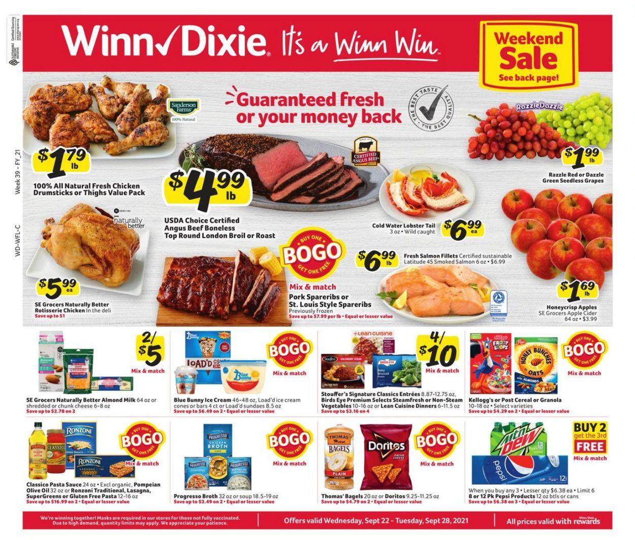 Catalogue Winn Dixie from 09/22/2021