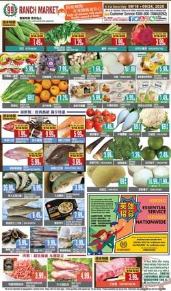 Catalogue 99 Ranch - Weekend Ad from 09/18/2020