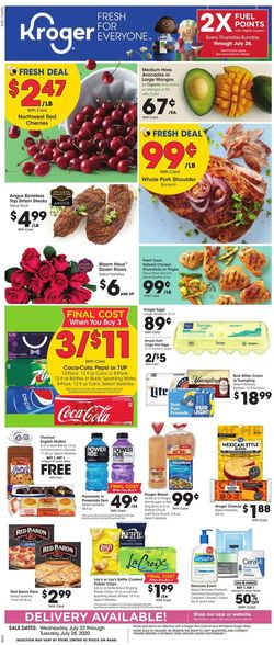 Catalogue Kroger from 07/22/2020