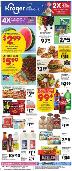 Catalogue Kroger from 07/29/2020