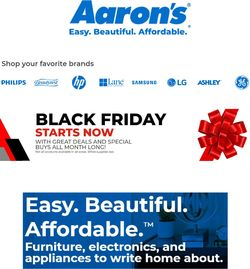 Current weekly ad Aaron's
