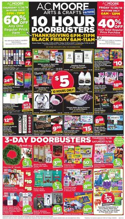 Catalogue A.C. Moore - Black Friday Ad 2019 from 11/28/2019