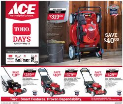Catalogue Ace Hardware from 04/29/2020