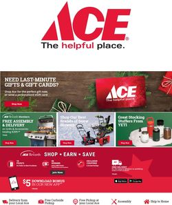 Catalogue Ace Hardware Holiday 2020 from 12/25/2020