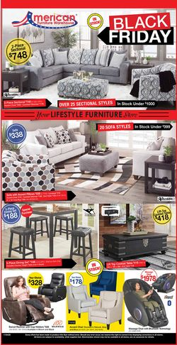 Catalogue American Furniture Warehouse Black Friday 2020 from 10/28/2020