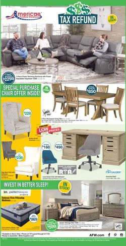 Catalogue American Furniture Warehouse from 04/11/2021
