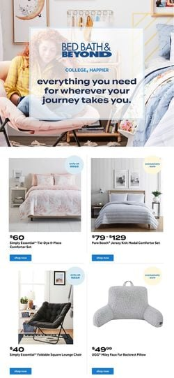 Current weekly ad Bed Bath and Beyond