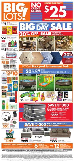 Catalogue Big Lots from 05/23/2020
