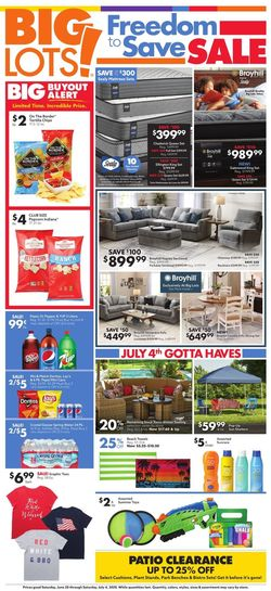 Catalogue Big Lots from 06/20/2020