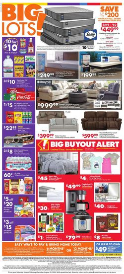 Catalogue Big Lots from 08/15/2020