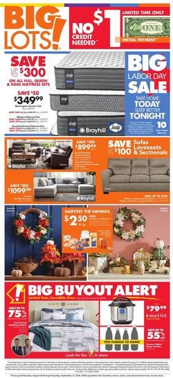 Catalogue Big Lots from 08/29/2020
