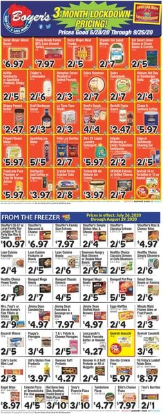 Catalogue Boyer's Food Markets from 07/28/2020