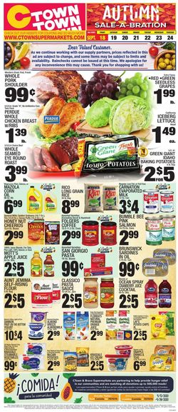 Current weekly ad C-Town