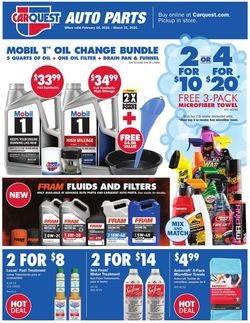 Catalogue CarQuest from 02/18/2021