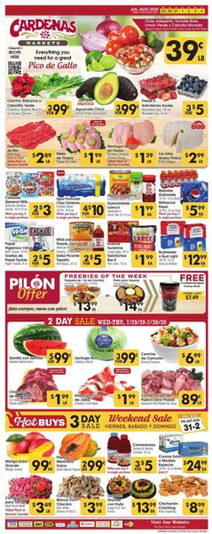 Catalogue Cardenas from 07/29/2020