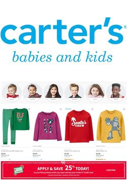 Current weekly ad Carter's
