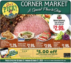 Current weekly ad Corner Market