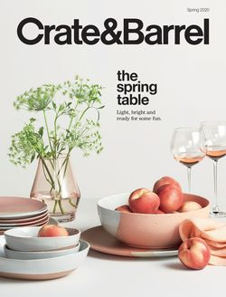 Catalogue Crate & Barrel from 03/20/2020