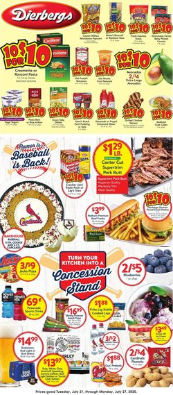 Catalogue Dierbergs from 07/21/2020