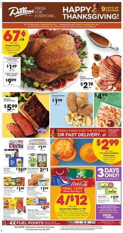 Dillons - Thanksgiving Ad 2019