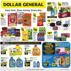 Catalogue Dollar General from 08/09/2020