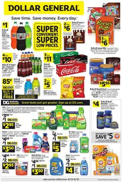 Catalogue Dollar General from 09/13/2020