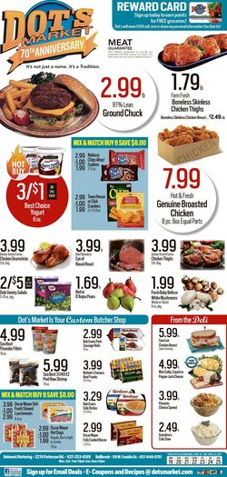 Current weekly ad Dot's Market