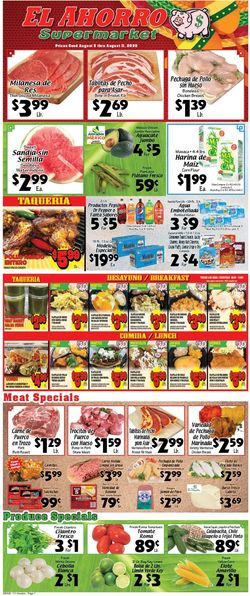 Catalogue El Ahorro Supermarket from 08/05/2020