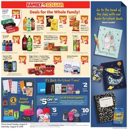Catalogue Family Dollar from 08/09/2020