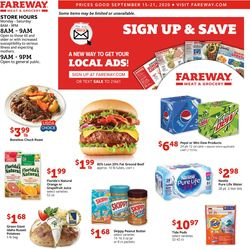 Catalogue Fareway from 09/15/2020