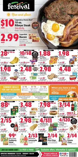 Catalogue Festival Foods from 07/22/2020