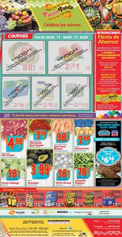 Catalogue Fiesta Foods SuperMarkets from 03/11/2020