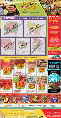 Catalogue Fiesta Foods SuperMarkets from 03/18/2020