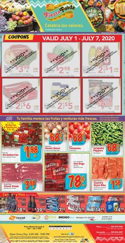 Catalogue Fiesta Foods SuperMarkets from 07/01/2020