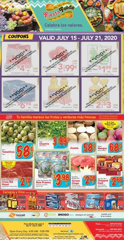 Catalogue Fiesta Foods SuperMarkets from 07/15/2020