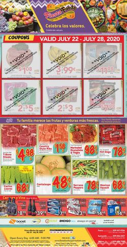 Catalogue Fiesta Foods SuperMarkets from 07/22/2020